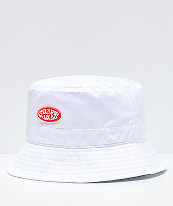 Petals and Peacocks Logo White Bucket Hat