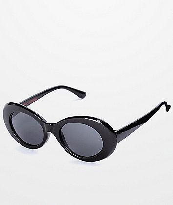 Petals and Peacocks Nevermind Black Sunglasses