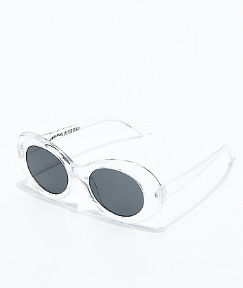Petals and Peacocks Nevermind Clear Sunglasses