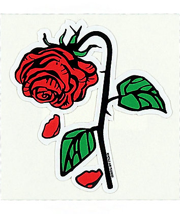 Petals and Peacocks Petal Rose Sticker