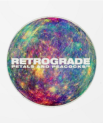 Petals and Peacocks Retrograde Sticker