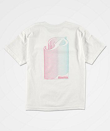 Primitive Boys Stacked White T-Shirt