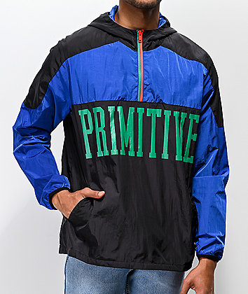 Primitive Croydon chaqueta anorak azul y negra