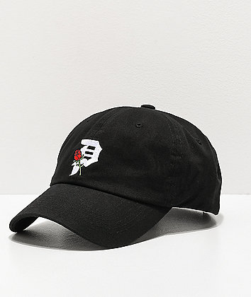 Primitive Dirty P Rosebud Black Strapback Hat