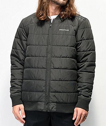 Primitive Hadley chaqueta bomber negra