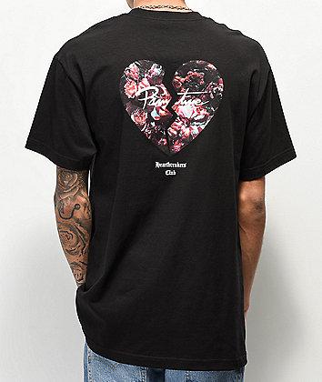 Primitive Heartbreakers Broken Heart Black T-Shirt