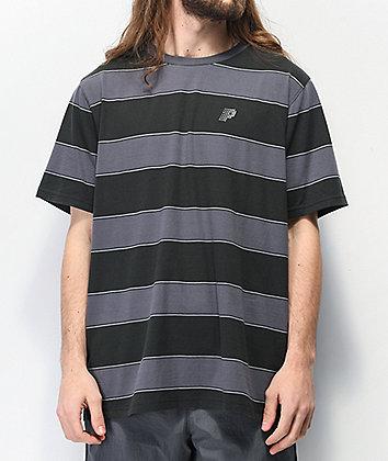 Primitive Hi Eight Black & Grey Stripe Knit T-Shirt