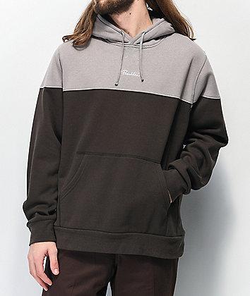 Primitive Pacer Colorblock Grey Hoodie