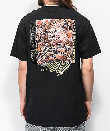 Primitive Pack Chaos Black T-Shirt