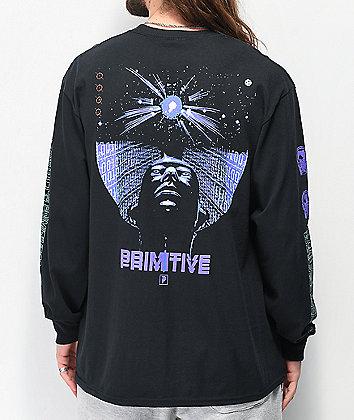 Primitive Reset Black Long Sleeve T-Shirt