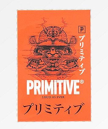 Primitive Samurai Red Sticker