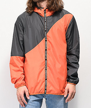 Primitive Wilshire Orange & Grey Windbreaker Jacket
