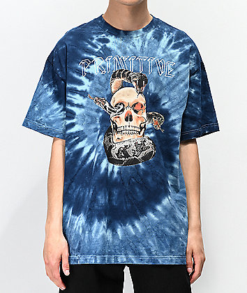Primitive World Tour Blue Tie Dye T-Shirt