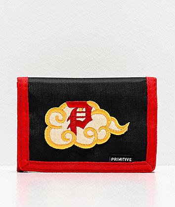 Primitive x Dragon Ball Z Nimbus Black & Red Trifold Wallet