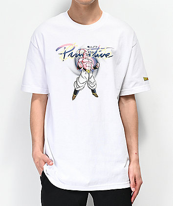 Primitive x Dragon Ball Z Nuevo Majin Buu White T-Shirt