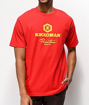 Primitive x Kikkoman Sauce Red T-Shirt