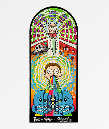 Primitive x Rick and Morty Collage Sticker