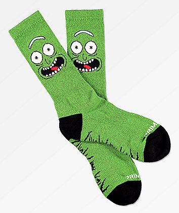Primitive x Rick and Morty Pickle Rick Crew Socks