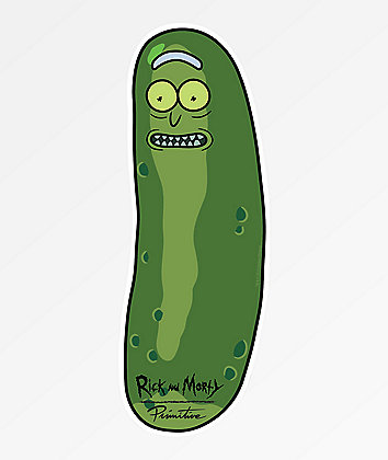 Primitive x Rick and Morty Pickle Rick Sticker