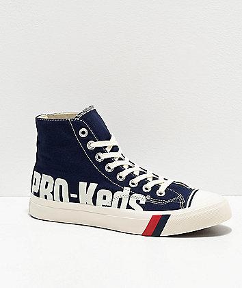 Pro-Keds Royal Hi Logo Navy & White Shoes