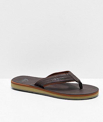 Quiksilver Carver Nubuck Demitasse Brown Sandals