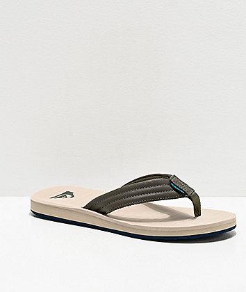 Quiksilver Carver Tropics Green, Blue & Grey Sandals