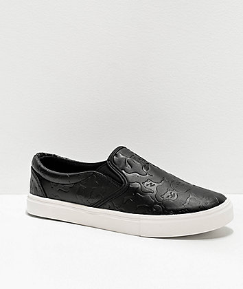 RIPNDIP Black Out Camo Slip-On Shoes