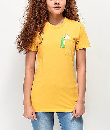 RIPNDIP Break Yo Self Gold Pocket T-Shirt