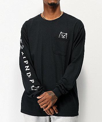 RIPNDIP Lord Jermal Black Long Sleeve T-Shirt