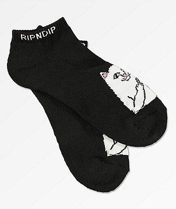 RIPNDIP Lord Nermal Black Ankle Socks