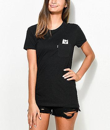 RIPNDIP Lord Nermal Black Pocket T-Shirt
