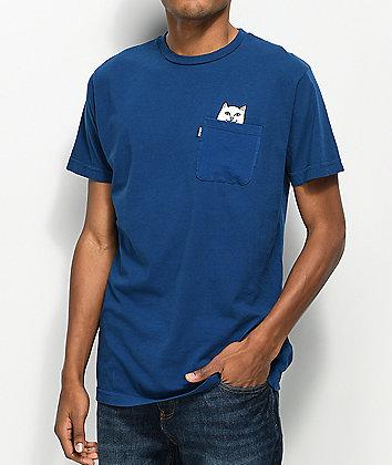 RIPNDIP Lord Nermal Blue Pocket T-Shirt
