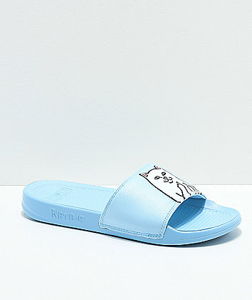 RIPNDIP Lord Nermal Light Blue Slide Sandals