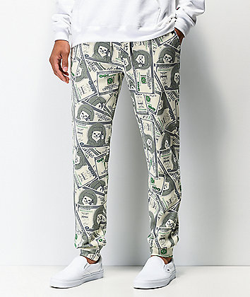 RIPNDIP Money Bag Green Sweatpants