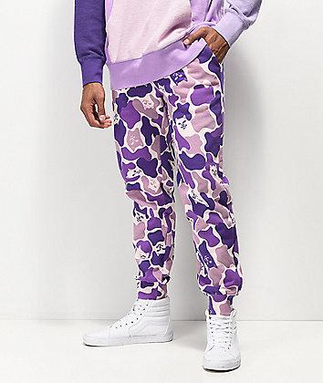 RIPNDIP Nermal Camo Purple Jogger Sweatpants