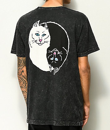 RIPNDIP Nermal Yin Yang Washed Black T-Shirt