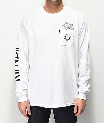 RIPNDIP Nermaniac White Long Sleeve T-Shirt
