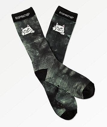 RIPNDIP Peeking Nermal Swamp Dye Crew Socks