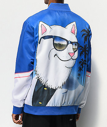 RIPNDIP Show Biz Blue Varsity Jacket