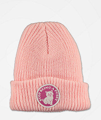 RIPNDIP Stop Being A Pussy Pink Beanie