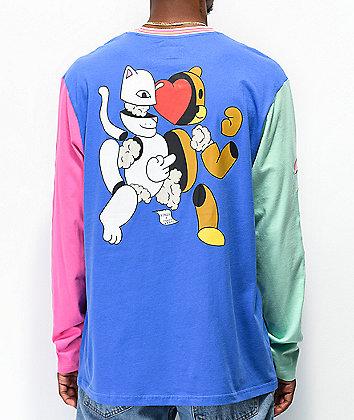 RIPNDIP x Teddy Fresh 2.0 Colorblock Long Sleeve T-Shirt
