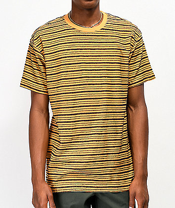 RVCA Amenity Yellow & Black Striped T-Shirt