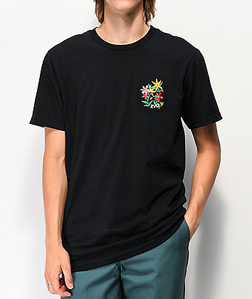 RVCA Bouquet Black T-Shirt