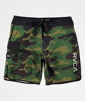 RVCA Eastern Dark Green Camo Board Shorts