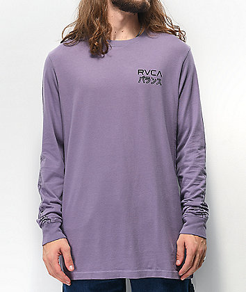 RVCA Int Haz Purple Long Sleeve T-Shirt