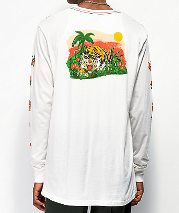RVCA Jungle White Long Sleeve T-Shirt