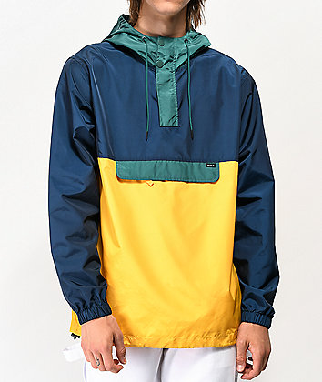 RVCA Killer Green, Blue & Yellow Anorak Jacket