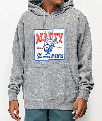 RVCA x Matty Matheson Glorious Meats Grey Hoodie