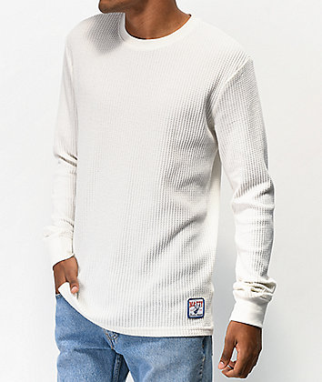 RVCA x Matty Matheson Thermal White Long Sleeve T-shirt