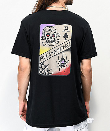 RVCA x Smith Street Tattoo Black T-Shirt
